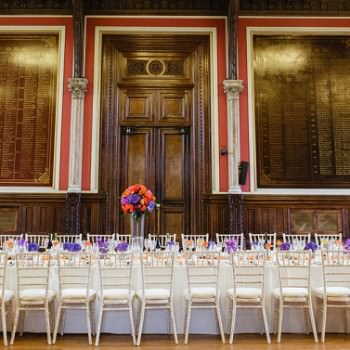 Dulwich College Wedding long dining table