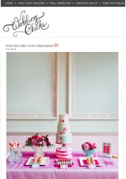 Wedding Chicks blog feature pink and mint dessert table styling