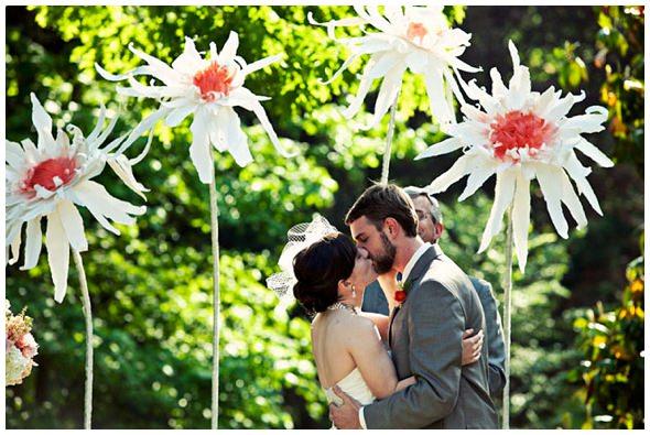 DIY Paper Wedding Flowers | Surrey Wedding Planner - Always Andri