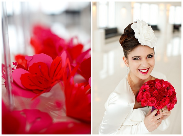 Inspirational photoshoot: modern colour pop~the ceremony
