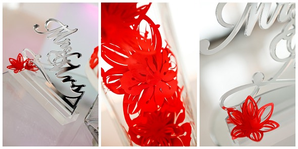 Inspirational photo shoot modern colour pop reception details