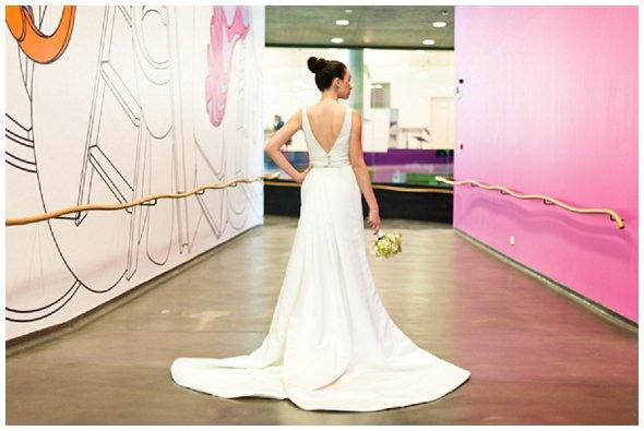 Architecture & Origami photoshoot: the wedding dresses
