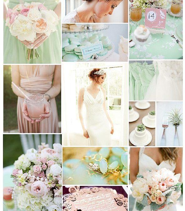 A photoshoot: Blush pink and mint