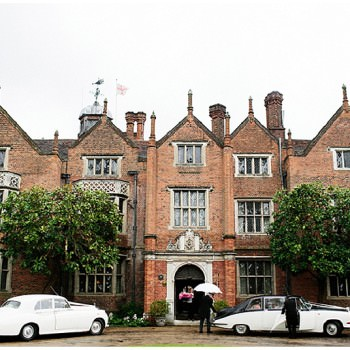 Great Fosters Wedding cars wating outside