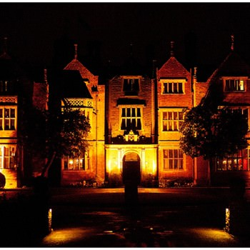 Great Fosters Wedding building at night