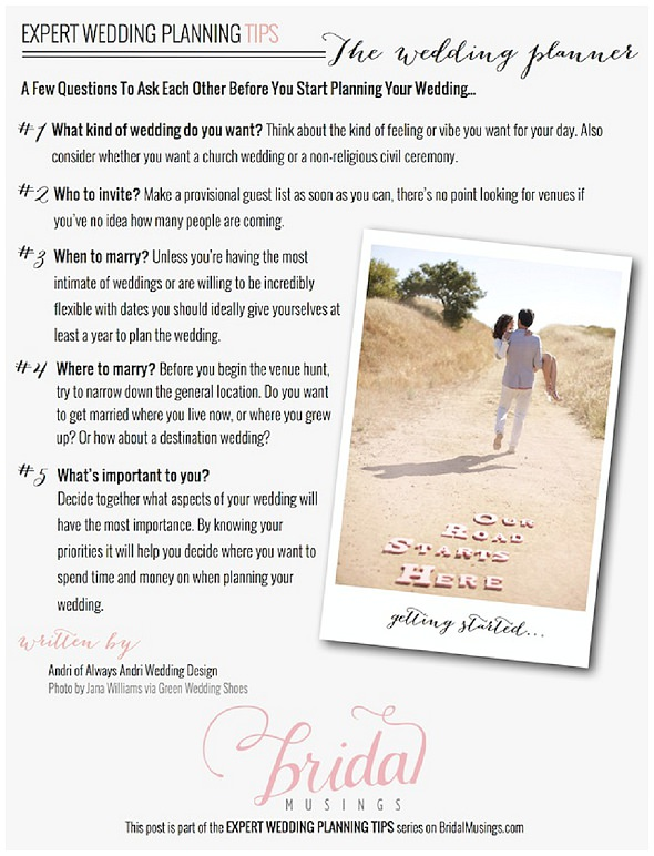 wedding planning tips for newly engaged couples