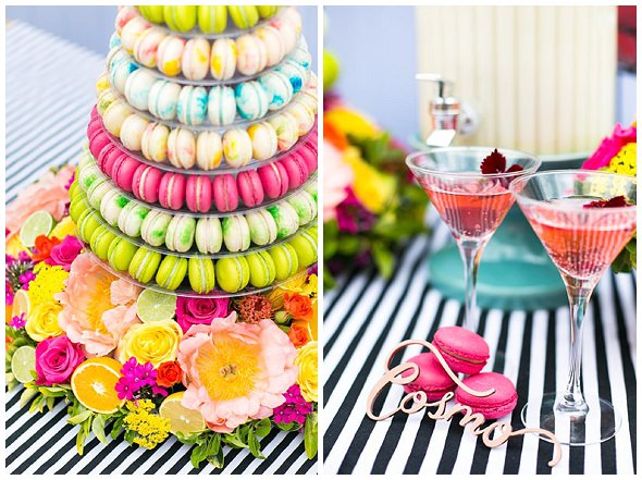 cocktail macaron for macmillan, photography by Anneli Marinovich styling by Always Andri wedding planner