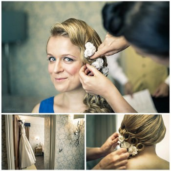 bridal prep hair and makeup by Lipstick and curls