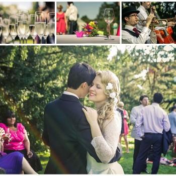 wedding drinks reception at Kew Gardens London