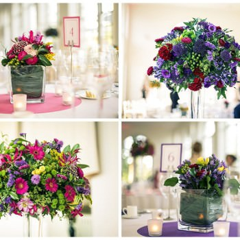 wedding flowers by Boutique Blooms purple and pink flowers