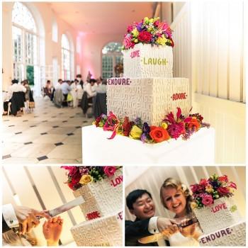modern wedding cake by Olofson Design
