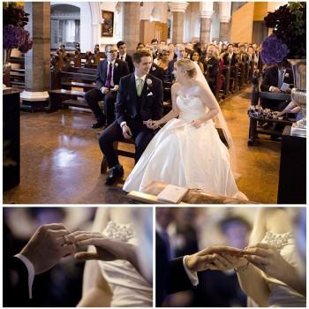 wedding ceremony in Greenwich church