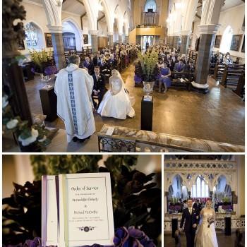 Bride and groom wedding ceremony London