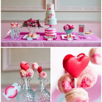 Pink and mint dessert table styling