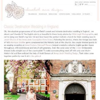 Great fosters wedding featured on Elizabeth Anne Designs