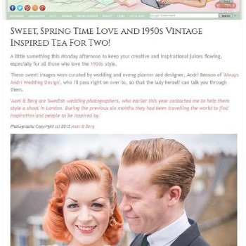 London couples shoot featured on Love My Dress