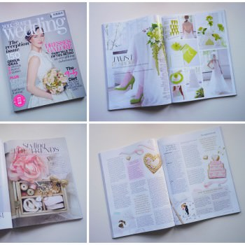 Press feature in You and Your Wedding Magazine styled shoot and planning tips
