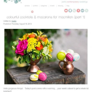 Styling for Macarons for Macmillan featured on b.loved