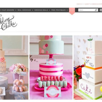 dessert table styling featured on Wedding Chicks