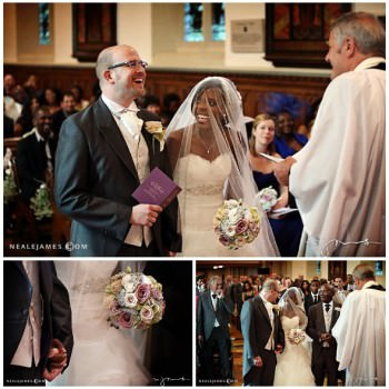 bride and groom church wedding ceremony