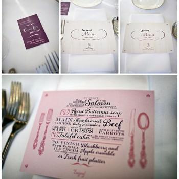 bespoke wedding day stationery Lousie Richardson