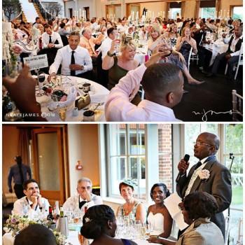 wedding speeches at Botelys Mansion