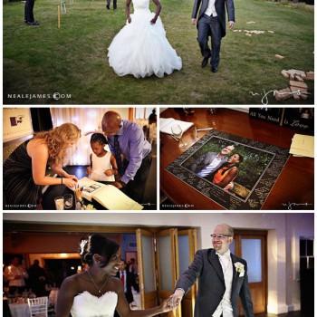 bride and groom evening reception