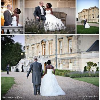 Bride and groom portraits at Botleys Mansion Surrey