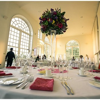 wedding tables in the Orangery at Kew Gardens