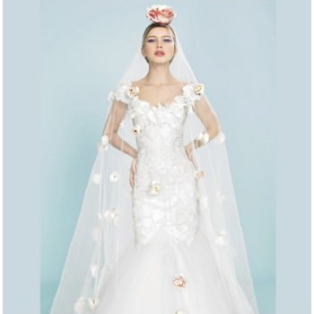 Brides The Show bride in wedding dress