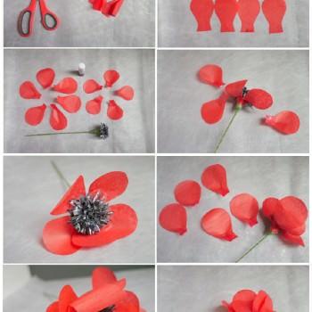 DIY paper poppy tutorial