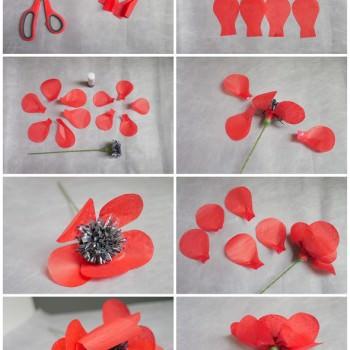 paper poppy DIY tutorial