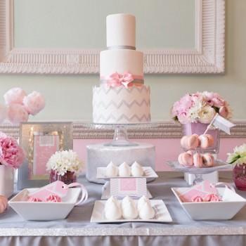 chevron cake table