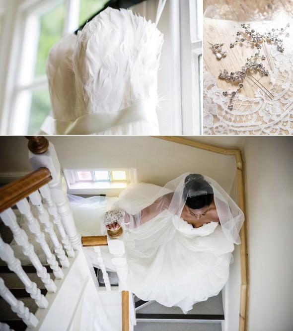 South London bride getting ready