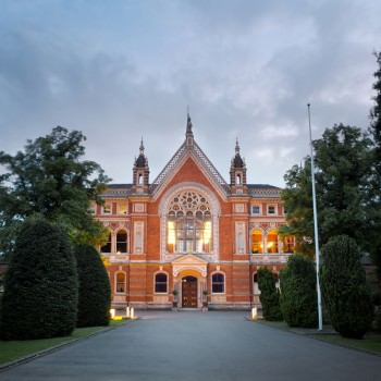 Dulwich College wedding venue at sunset