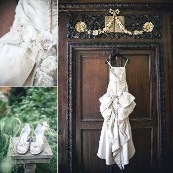 Ian Stuart wedding dress in taupe