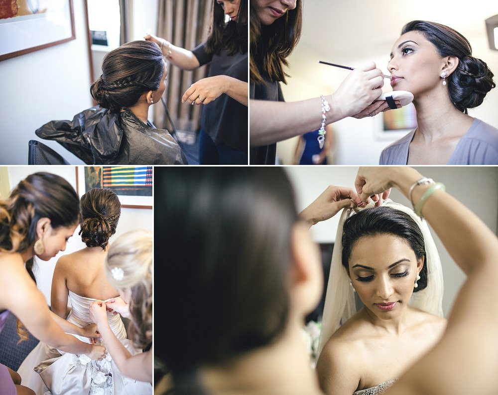 bridal prep at City wedding