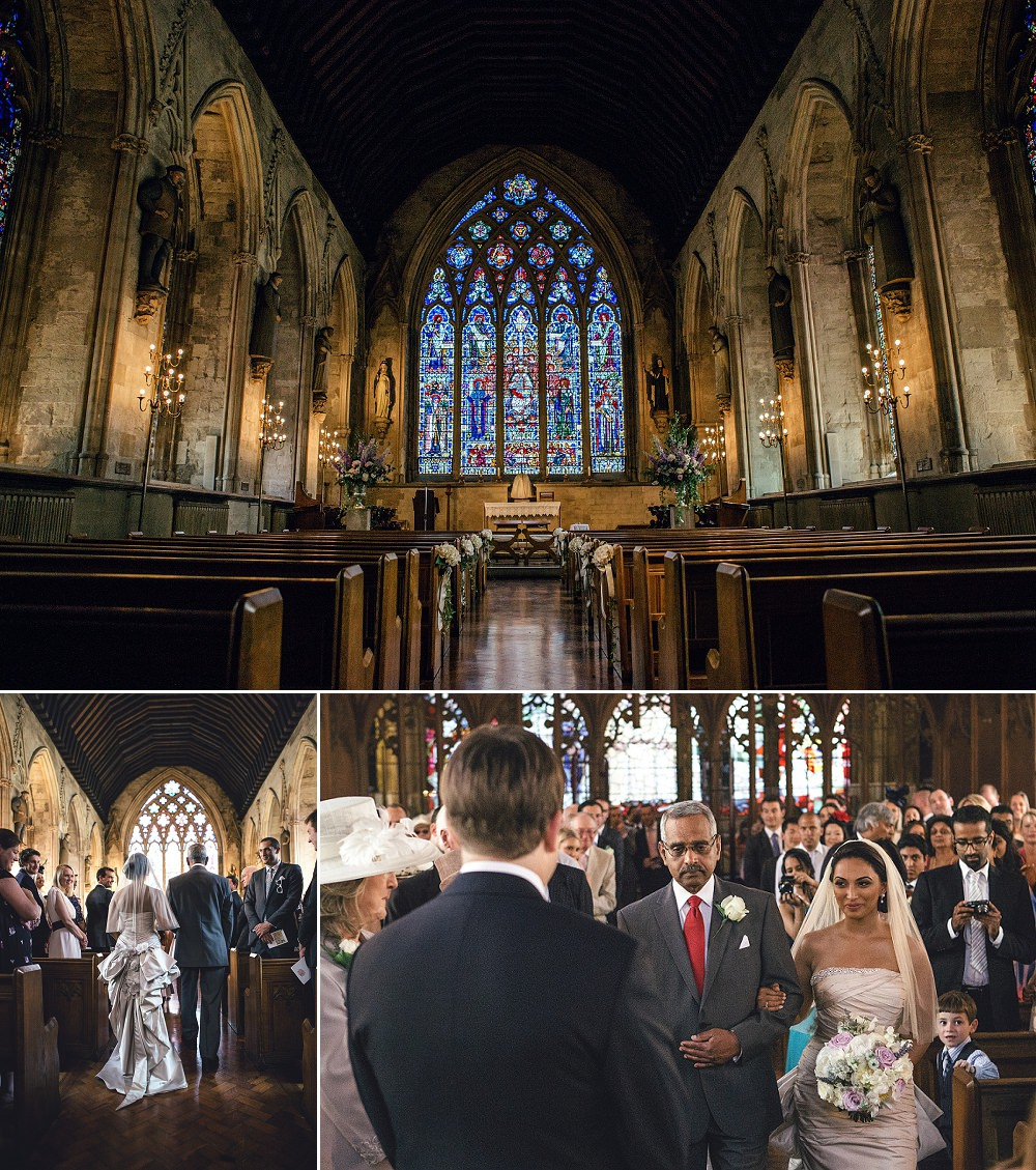 Wedding at St Etheldreda's Church London