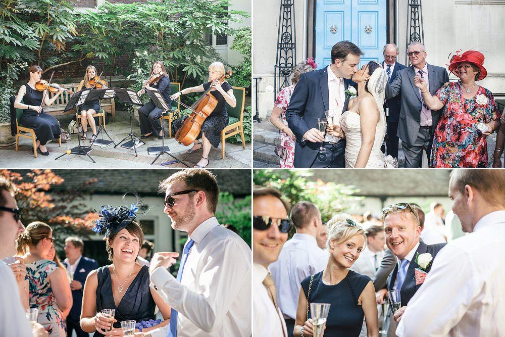 wedding drinks reception at Stationers Hall London