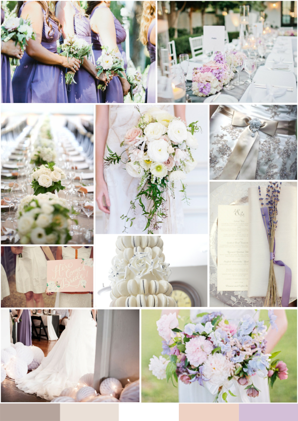 wedding mood board taupe and white with touches of lavender and pale pink always andri wedding design