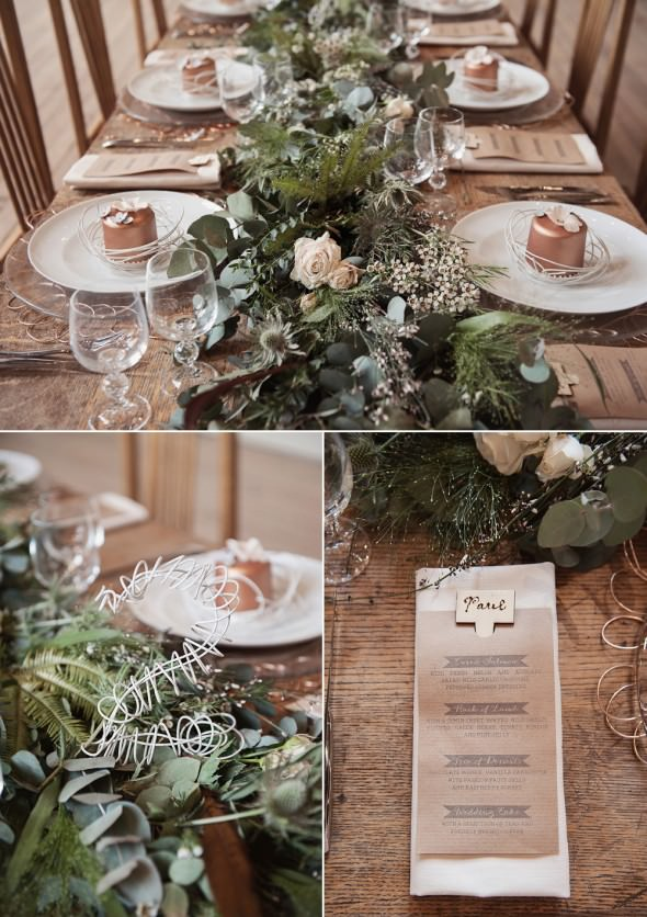 Kate Ruth Romney organic textured wedding stationery wire table number