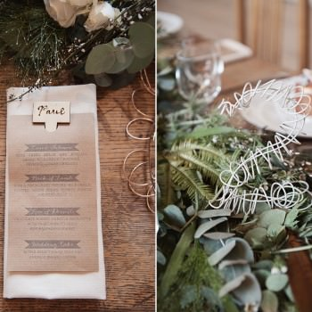 rusic wedding stationery and wire table number