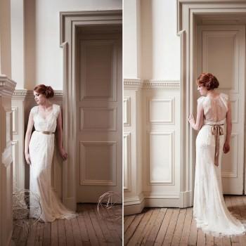 beautiful bride in Jenny Packham callie wedding dress