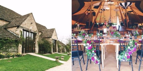 Great Tythe Barn tipi wedding