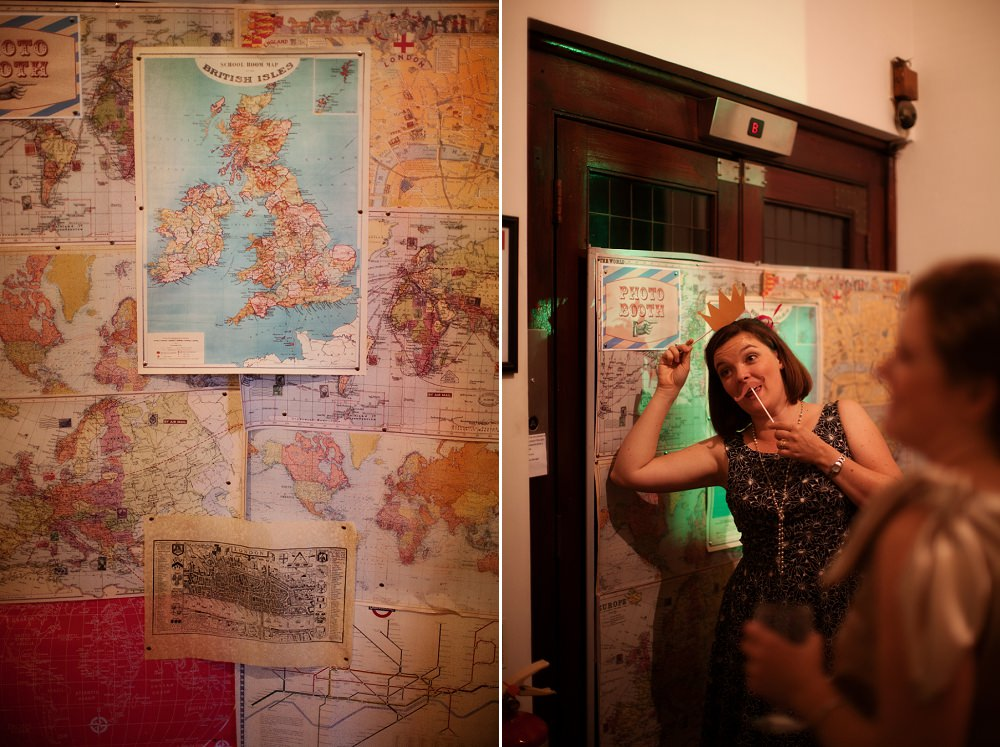 DIY travel themed map photobooth