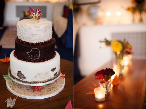 homemade Africa inspired wedding cake