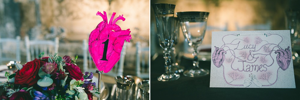 anatomical heart drawing wedding table number