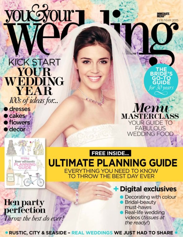 You and Your Wedding Magazine front cover feb March 2015
