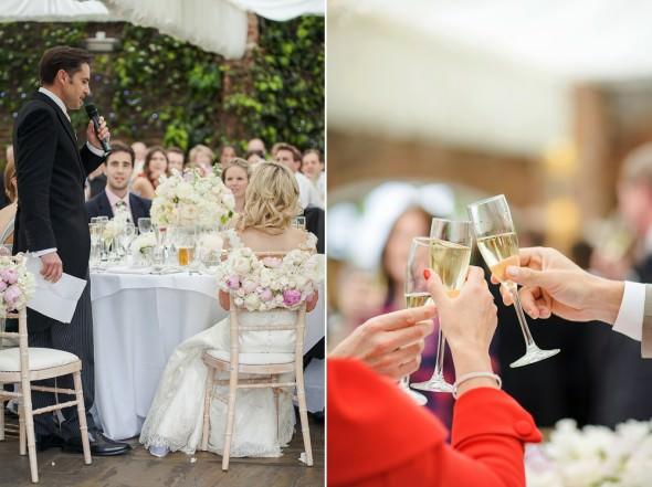 groom gives speech at weding breakfast