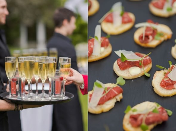 Jacaranda catering canapes and champagne